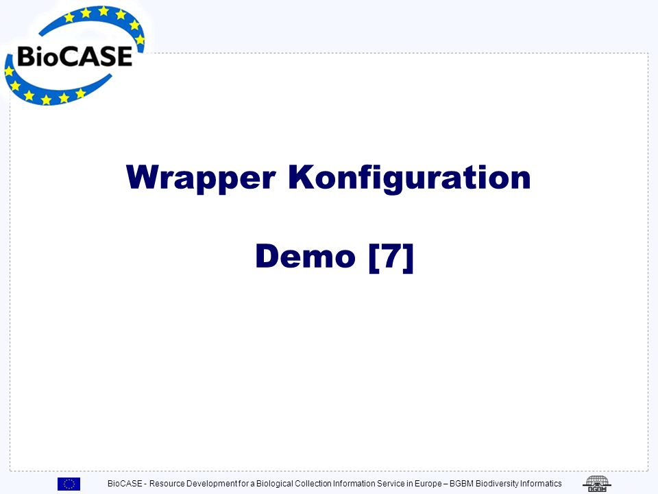 Wrapper Konfiguration Demo [7]